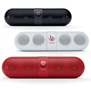 enceinte bluetooth Beats Pill 2.0 rouge blanc noir