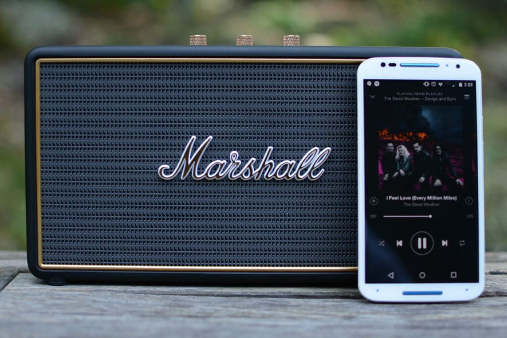 enceinte bluetooth marshall stockwell portable et puissante. Black Bedroom Furniture Sets. Home Design Ideas