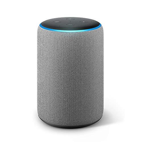 Echo Plus (2ème génération), Son de qualité premium avec un hub maison connectée intégré, Tissu gris chiné